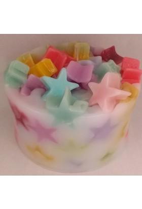 Petite El Yapımı Yıldız Şekerleme Süslü Pasta Mum