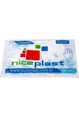 Niceplast Şeffaf Eldiven Tekli