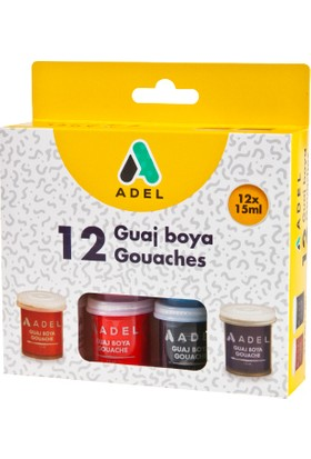 Adel Guaj Boya 15Ml 12 Renk
