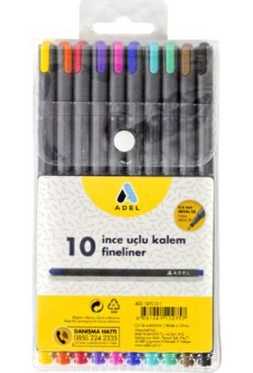 Adel Fineliner 10 Renk Karışık İnce Uçlu Kalem