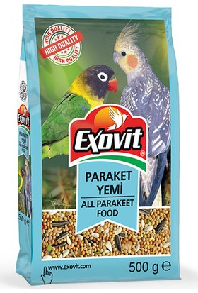 Exovit Paraket Yemi 500gr Cennet Papağanı Yemi Sultan Papağanı Yemi