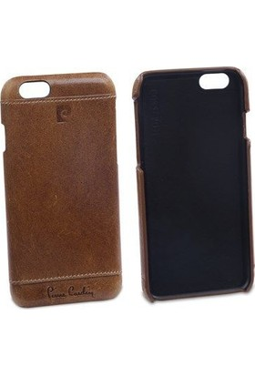 Pierre Cardin iPhone 6 Deri Arka Koruma Paneli Kahverengi PCL-P03
