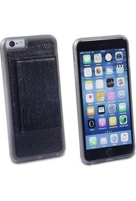 Pierre Cardin iPhone 6 Plus Deri Arka Koruma Paneli Siyah PCL-P11