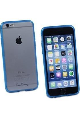 Pierre Cardin iPhone 6 Silikon Arka Koruma Paneli Mavi PCZ-S05