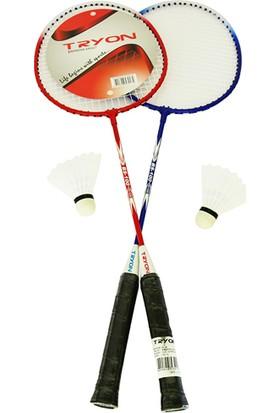 Tryon BS100 2 Raket 2 Top Badminton Raket Seti