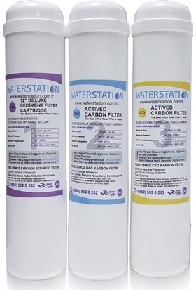 Waterstation Filtre İnline Değişim Seti 3'Lü