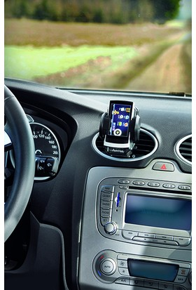 Hama Araç İçi Telefon Tutucu Evrensel 4 - 11 cm Ayarlanabilir Siyah HM.14483