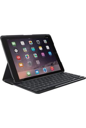 """Logitech 6. Nesil iPad / Air 1 9.7"""" Klavyeli Kılıf - Carbon Black (Türkçe) 920-007296"""