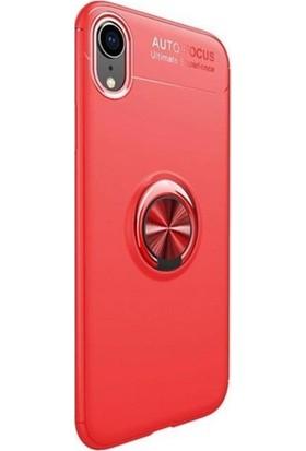 4ed95a74280e0 KNY Apple iPhone XR Kılıf Ultra Korumalı Yüzüklü Standlı Manyetik Ravel  Silikon + Cam Ekran Koruyucu