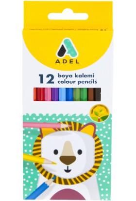 Adel Karton Kutu Boya Kalemi 12 Renk Tam Boy