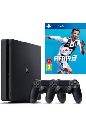 Sony Playstation 4 Slim 1 Tb Oyun Konsolu + 2. Kol + Fifa 19