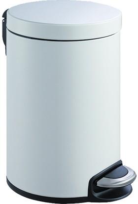 Primanova Softclose Pedallı Çöp Kovası Beyaz 12LT D-15333