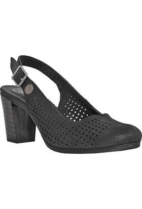 Mammamia D18Ys-1095 Deri Kadın Ayakkabı Simli