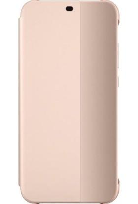 Huawei Anne P20 Lite Flip Cover - Pembe