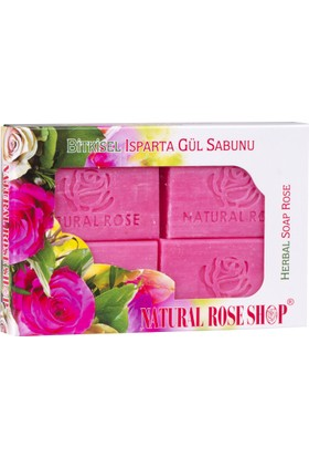 Natural Rose Shop Bitkisel Isparta Gül Sabunu 4x90 gr