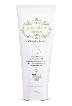 Missha Creamy Latte Cleansing Foam (Green Tea)