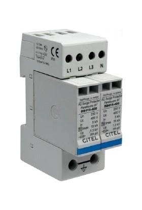 Citel B+C Sınıfı 100 kA 1Faz+Nötr Alarm Kontaklı Parafudr