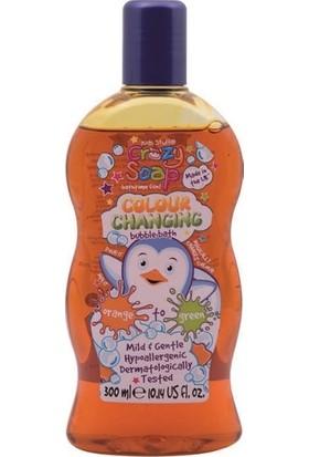 Crazy Soap Çocuklar İçin Renk Değiştiren Banyo Sabunu 300 ml Turuncudan Yeşile