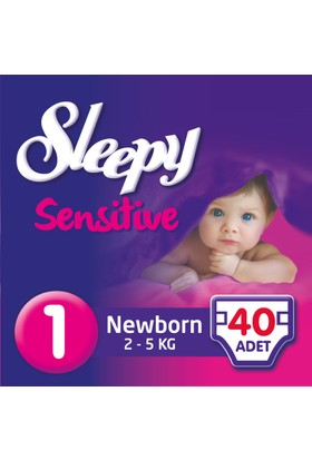 Sleepy Sensitive Bebek Bezi Yeniodoğan 1 Beden Jumbo Paket (40 Adet)