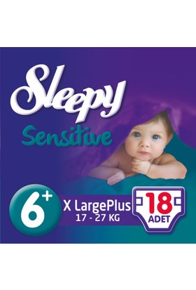 Sleepy Sensitive Bebek Bezi 6+ Beden XL Plus Jumbo Paket (18 Adet)