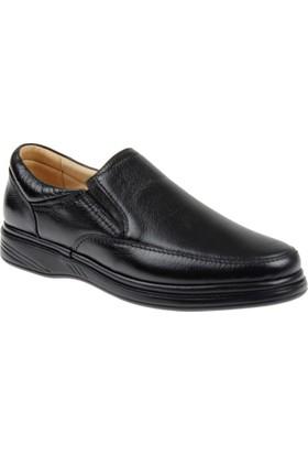 Shalin Büyük Numara Hakiki Deri Erkek Ayakkabı Dtc 1106B Siyah