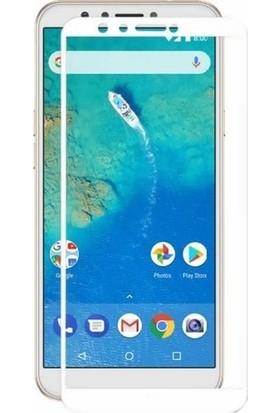 Teleplus General Mobile GM 8 Tam Kapatan Ekran Koruyucu Beyaz