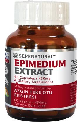 Sepe Natural Epimedium Ekstrakt 60 Kapsül 480 mg | Horny Goat weed Extract