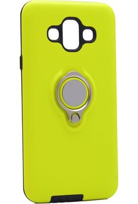 Happyshop Samsung Galaxy J7 Duo Kılıf Ultra Korumalı Sert Ring Youyou Kapak+Nano Cam Ekran Koruyucu
