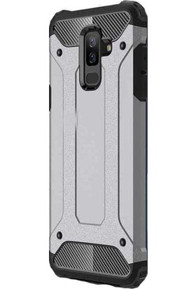 Happyshop Samsung Galaxy J8 2018 Kılıf Çift Katmanlı Amour Case+Nano Cam Ekran Koruyucu
