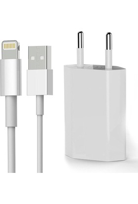 BN Apple iPhone Lightning Şarj Kablosu + Adaptörü Seti BN-IPSET001