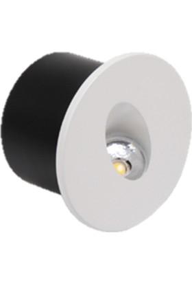 Horoz Yakut 3W 4000K Ilık Beyaz Işık Smd Led Mat Krom Armatür