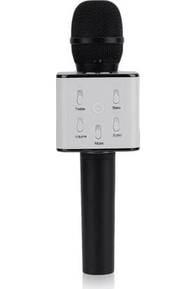 EVERVOX Karaoke Mikrofon Bluetooth Speaker KRK-01 Siyah