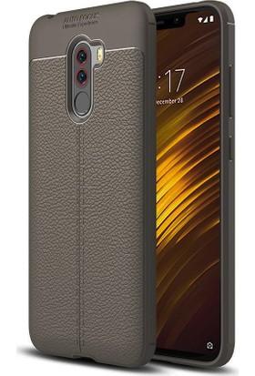 Case 4U Xiaomi Pocophone F1 Kılıf Darbeye Dayanıklı Niss Arka Kapak - Gri