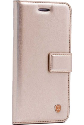 Case 4U Samsung Galaxy J8 Kılıf Kapaklı Standlı Gizli Mıktanıslı Cüzdan Kılıf - Altın