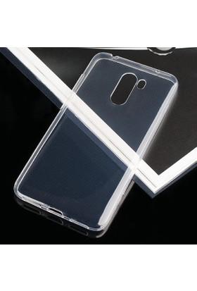 Case 4U Xiaomi Pocophone F1 Kılıf Süper Silikon Arka Kapak - Şeffaf