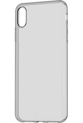 Case 4U Apple iPhone XS Max Kılıf Silikon Arka Kapak - Şeffaf