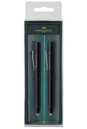 Faber-Castell Grip 2011 Versatil+Tükenmez Hediye Seti Buzlu Siyah