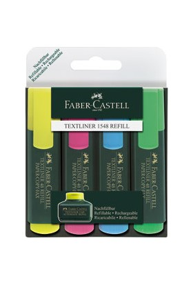 Faber-Castell Fosforlu Kalem 4'lü Poşet