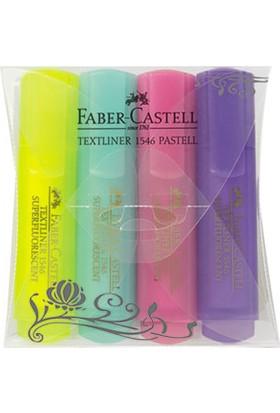 Faber-Castell Şeffaf Gövde Pastel Renkler 1546 4'lü Poşet