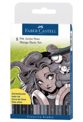 Pitt Manga Seti (8 Pitt Çizim Kalemi)