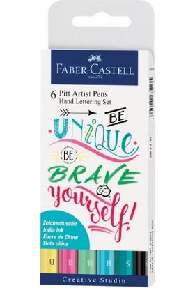 Faber-Castell Pitt Artist Pen Kaligrafi Seti Pastel 6lı