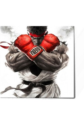 Tabrika Street Fighter Ryu Kanvas Tablo 60X60