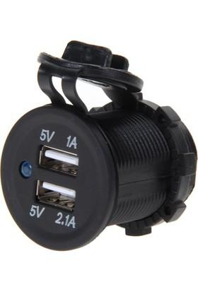 Oem Motosiklet, Araba İçin Çift USB Şarj Soketi 5V1A, 5V2.1A