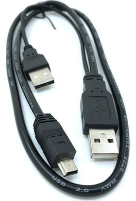 Platoon NHR-5240 Taşınabilir Harddisk Kablosu USB 2.0 5Pin Mini Y Kablo