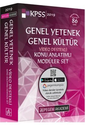 2019 KPSS Genel Yetenek Genel Kültür Video Destekli Konu Anlatımlı Modüler Set 6 Kitap