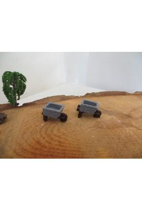 Green Wood Teraryum Malzemeleri El Arabası Minyatür Obje