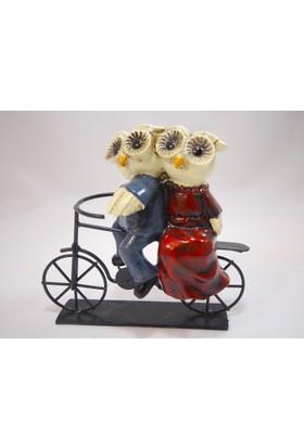 Klc Bisikletli Baykuş Biblo