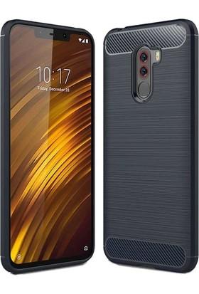 Teleplus Xiaomi F1 Özel Karbon ve Silikonlu Kılıf Lacivert + Nano Ekran Koruyucu