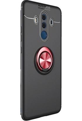 TeknoArea Huawei Mate 10 Pro Kılıf Ultra Korumalı Yüzüklü Ravel Silikon + Cam Ekran Koruyucu