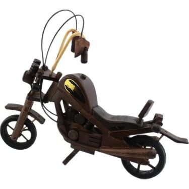 dekodem ahsap el yapimi motosiklet biblo orta boy 30cm